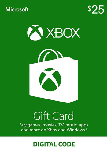 Xbox Live Gift Card 25 USD US, mmorc.com