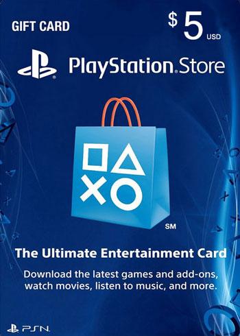 PlayStation Network Gift Card 5 USD US, mmorc.com