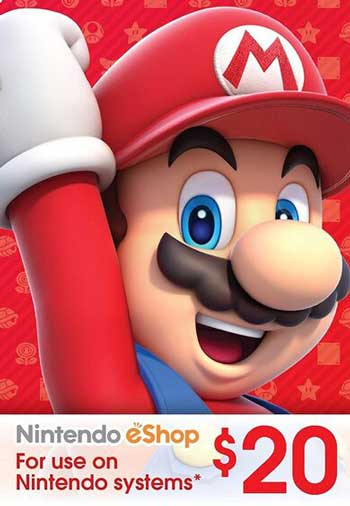 Nintendo eShop Gift Card 20 USD US