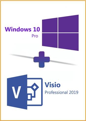 Windows 10 Pro + Visio Pro 2019 Key Global Bundle