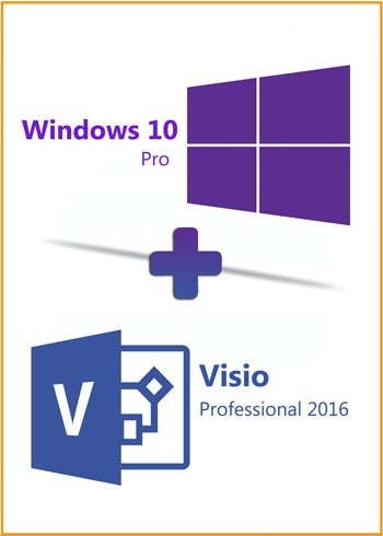 Windows 10 Pro + Visio Pro 2016 Key Global Bundle, mmorc.com