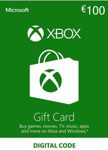 Xbox Live Gift Card 100 Euro Europe