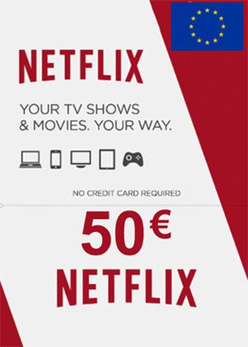 Netflix 50 EUR Gift Card EUROPE, mmorc.com