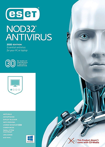 ESET NOD32 Antivirus 2020 2 Devices 2 Years Digital Code Global