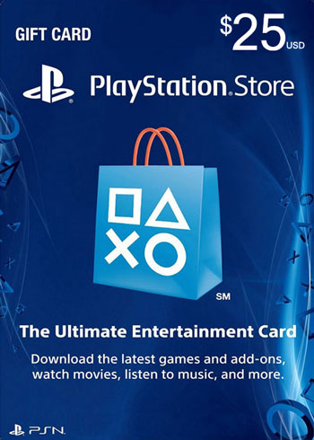 PlayStation Network Gift Card 25 USD US