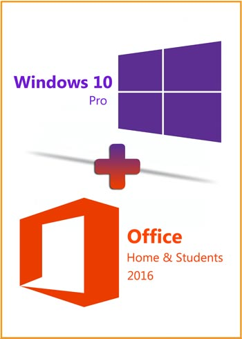 Windows 10 Pro + Office 2016 Home & Students Key Global Bundle