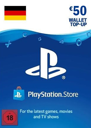 PlayStation Network Gift Card 50 Euro Germany